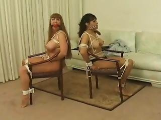Two Girls Tied To Chair