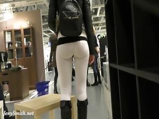 Jeny Smith Camel Toe White Leggings