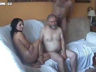 2 Pervert Grandpas Fuck Gangbang Teen Surprise When Other Old Guys Arrive#1