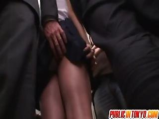 Asian office lady is in to public sex
