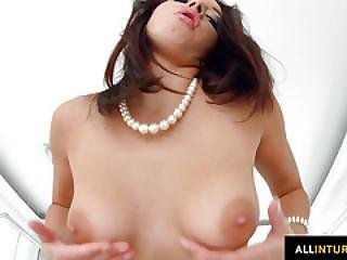 Felicia Kiss Shows Her Holes With Dipping Messy Cum