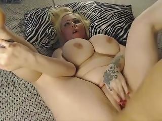 Blonde Slut Sunny Gets Cum On Her Huge Boobs