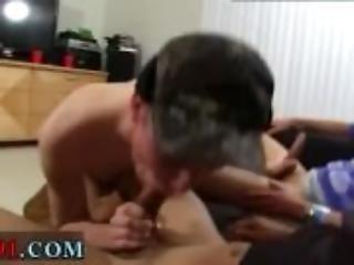 Straight college boy mess around gay first