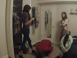 2 Girls, Jewish Kid-old Video Ballbusting