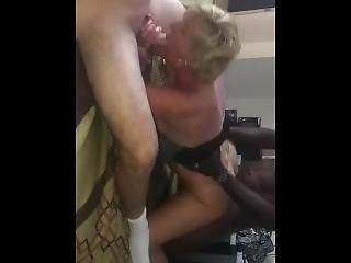amatorski, blondynka, obciąganie, hardcore, milf, ostro, seks, trójkąt