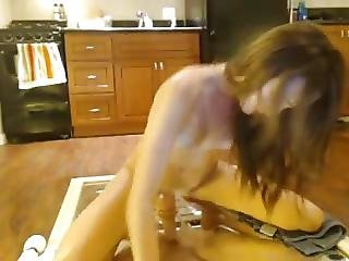 Jenna Wolfer Isolamaui Riding A Dildo On A Mirror