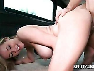 Pregnant Slut Pussy Nailed Doggy Style In Bus
