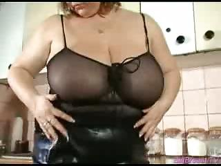 Voluptuous Big Titty Fucks With Dildo