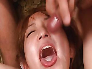 Sana Anzyu, Obedient Bimbo, Gets Jizz On Face