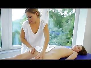 Lesbisch, Massage, Jung