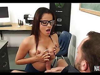 Nice Tits Ebony Nerd Fucked Aria Arial