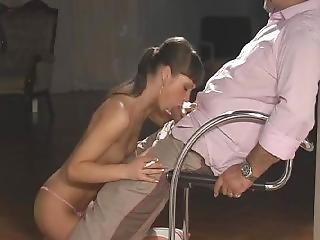 Angelina Oral Smoking Blowjob
