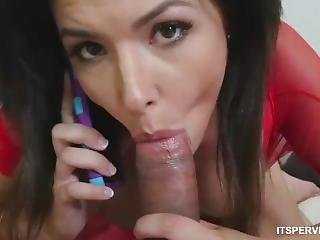 Perv Mom Interrupting Stepmoms Phone Sex Danica Dillon