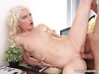 She Is Nerdy - Angelika Cristal - Nerdy Teen Fucked By Her Boss