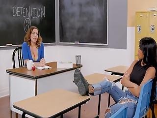 Phat Ass Lesbian Teacher Fucks The Bully Under Detention