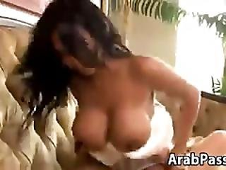 Busty Arab Bride Riding Cock