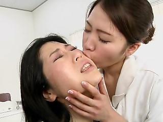 Klinikka, Fetissi, Hauska, Japanilainen, Lesbo, Hieronta, Sylki