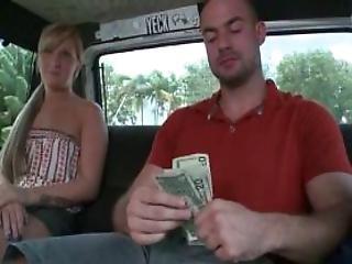 Slutty Blonde Flashing Her Body In The Sex Bus