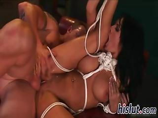 Tied Up Slut Gets Dicked Really Hard