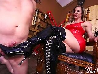 Licking Her Boots Clean