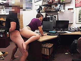 Extremely Hot Lesbian Thief Tries A Dick And Gets Her Vagina Bumped By The Pawnshop Owner