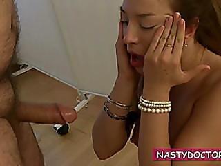Brunette Babe Listens To Her Doctor