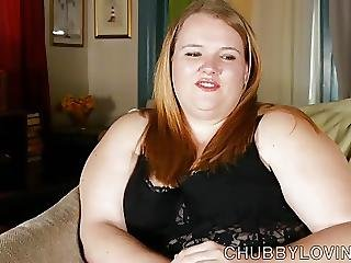 Super Cute Chubby Honey In Sexy Lingerie Fucks Her Wet Pussy