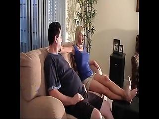bruder, sperma, füsse, fetisch, fuss, fuss ficken, schwester, zehen