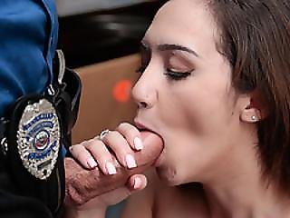 Petty Theft Suspect Lily Getting Naked And Ride On His Cock