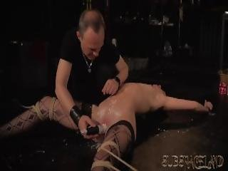 Pouring Wax On Teen Tits And Pussy Spanking Her Ass And Making Her My Slave