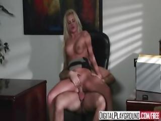 Digital Playground Riley Steele Rides Her Bosses Dick
