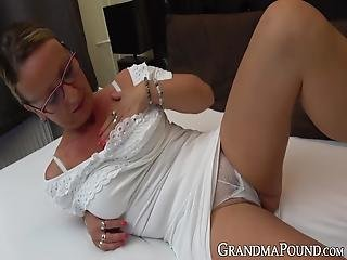 Classy Granny Lets Her Young Lover Fuck Her In Many Poses! This Old Lady Wanted To Taste That Young Dick For A Very Long Time Now!