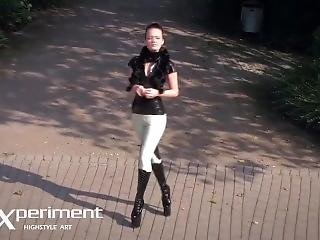 Latex Horse Jockey - Valerie Tramell