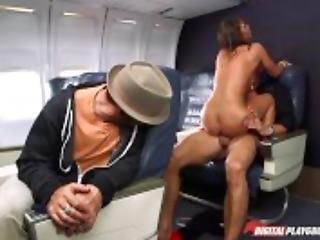 Ass, Babe, Boob, Brunette, Dick, Dp, Heels, Playground, Pussy, Sex, Stewardess, Sucking, Trimmed