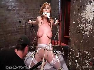 Redheaded Anal Bondage Queen