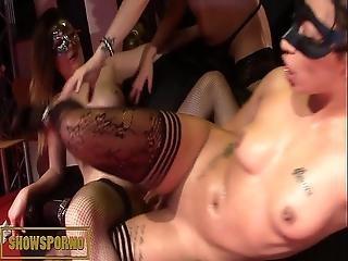 Spanish Pornstars Lesbian Show On Stage