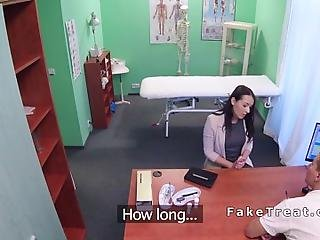 Sexy Brunette Amateur Euro Patient Has Pussy Examination In Fake Hospital Nad After Got Horny She Fucks Her Doctor All Over Office