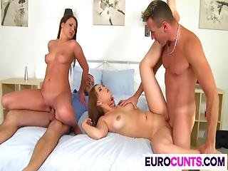 Wet Euro Cunts Get Banged Good