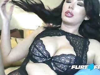 Flirt4free Babe Lady Cataleya Shows Off Her Curvy Body And Big Natural Tits