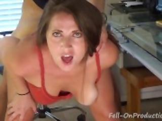 amatööri, suihinotto, fetissi, silmälasit, pitsi, milf, suu, seksi, vaginallinen