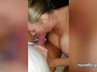 Busty Mom Gives Me A Blowjob