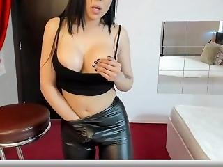 Chaturbate Leather Leggings And Sexy Top Busty Asian