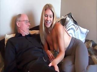 Busty College Teen Loves Her New 70yo Owner Of Apartment