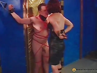 Touches Member At His Bound Man