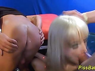 Blonde, Blowjob, Fetish, Orgy, Pee, Perky, Piss, Pissing, Shower, Slut, Sport, Watersport