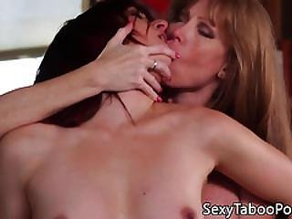 Busty Mature Les Pussylicking Wet Box