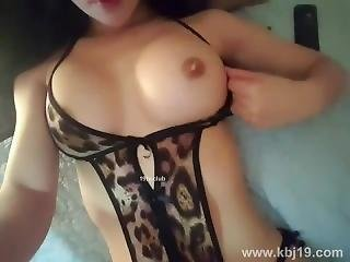 gross titte, bikini, koreanisch, spritzen, webkam