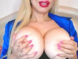 Big Tit Russian Girl Showin Off Her Tongue
