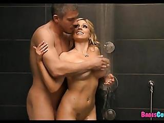 Having Fun With Big Tit Blonde In The Shower