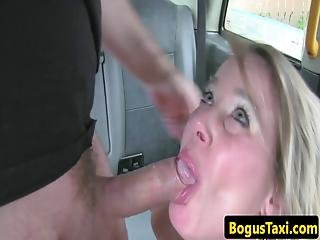 British Taxi Babe Fucked In Cabby Backseat